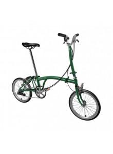 Brompton H6L skladací bicykel zelený