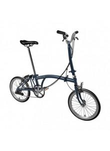 Brompton H6L skladací bicykel tmavo modrý