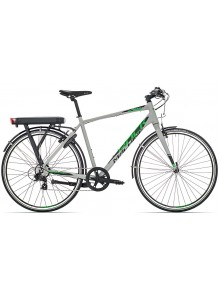 Elektrobicykel Rock Machine Blackout EC20 60 cm light grey/black/green+ bat.11,6Ah+nabíjačka 2A