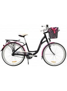"""Retro bicykel STORM Dublin Alu 26"""" 3sp. 15"""" čierna/ružová"""