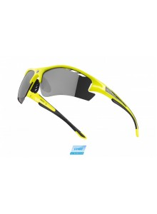 Okuliare F RIDE PRO fluo diop.klip,čierne laser sklá