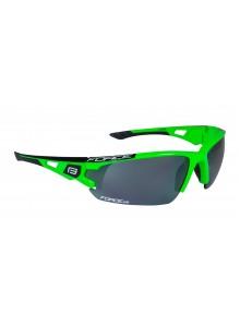 Okuliare FORCE CALIBRE fluo zelené, čierne laser sklá
