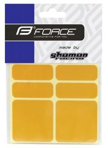 Nálepky FORCE reflexná sada 6 ks, žlté