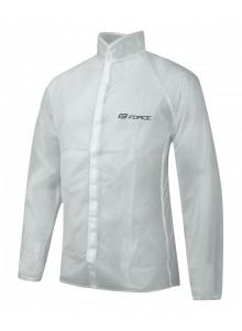 Pláštenka FORCE PVC číra, suchý zips XL