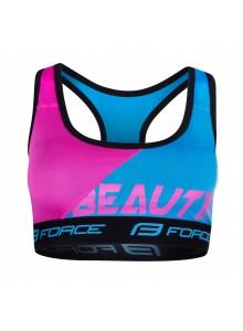 Podprsenka športová FORCE BEAUTY, modrá-ružová XL