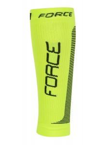 Ponožky-kompresné návleky FORCE, fluo-čierna L-XL-poslední kus