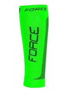 Ponožky-kompresné návleky FORCE,zeleno-čierna L-XL