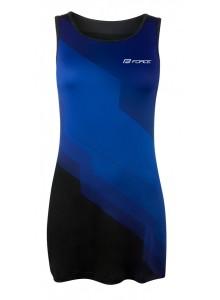 Šaty športové FORCE ABBY, modro-čierne XL