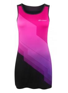Šaty športové FORCE ABBY, ružovo-čierne XL