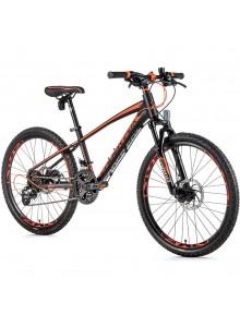 """Detský bicykel Leader Fox CAPITAN chlapčenský 24""""-2,2020 čierna matná/oranžová"""