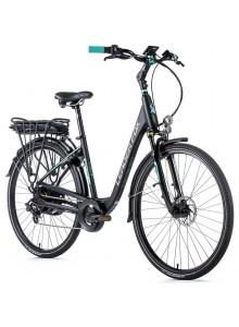 "Elektrobicykel Leader Fox INDUKTORA 28"", 2020-1 20"" čierna matná/svetlo zelená"