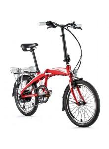 "Skladací elektrobicykel Leader Fox TIFTON 20"", 2020-1 červená/biela"