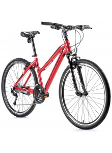 "Krosový bicykel Leader Fox DAFT dámsky, 2021-1 20"" červená"