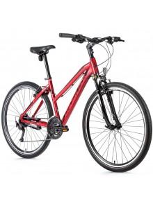 """Krosový bicykel Leader Fox TOSCANA dámsky, 2021-1 20"""" tmavo červená"""