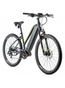 """Krosový elektrobicykel Leader Fox EXETER dámsky, 2021-2 20"""" sivá matná/žltá"""