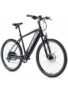 """Crossový elektrobicykel Leader Fox BARNET pánsky, 2021-1 20,5"""" čierna matná/oranžová"""