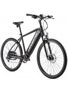 """Crossový elektrobicykel Leader Fox BARNET pánsky, 2021-2 20,5"""" čierna matná/zelená"""