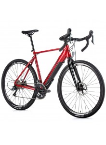 Gravel elektrobicykel Leader Fox RUNNER, 2021-1 56 cm červená/čierna