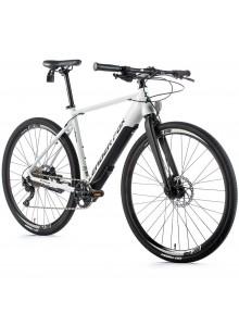 """Crossový elektrobicykel Leader Fox WACO pánsky, 2021-3 19"""" biela matná/čierna"""