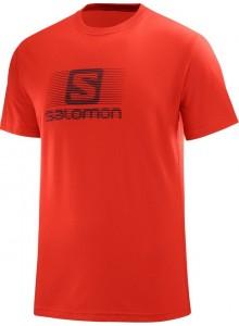 Tričko SAL.Blend logo SS M fiery red