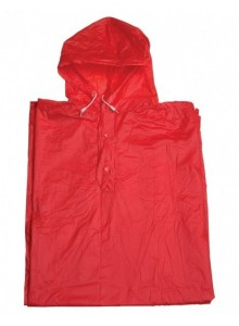 Pláštenka pončo PVC dospelá červená