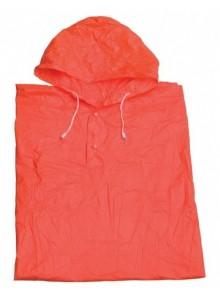 Pláštenka pončo PVC dospelá oranžová