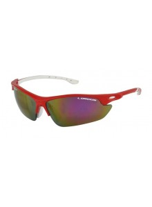 Okuliare LONGUS Missiz červené, sklá zrkadlové+smoke