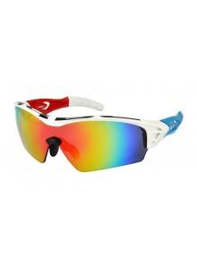 Okuliare HQBC Treedom Plus bielo/červeno/modré