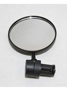 Zrkadlo spätné guľaté 8 cm do riadidiel čierne