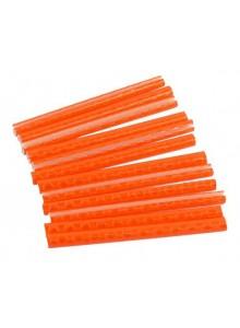 Odrazka do výpletu na špice clip 12ks svietivo oranžová