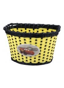 Kôš predný na detský bicykel Boy žlto/čierny