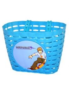 Košík predný na detský bicykel modrý skate