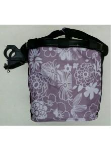 Taška na řidítka klip AL rám fialová s květy