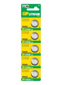 Batéria GP CR 2025 3V 20x2,5mm