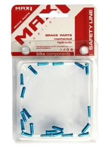 Koncovka lanka AL MAX1 modrá s osazením 20 ks