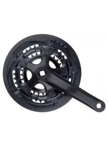 Kľuky 3-prevodník Fe/plast 170 mm/28-38-48z čierne