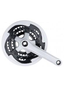 Kľuky 3-prevodník Fe/plast 170 mm/28-38-48z sivé