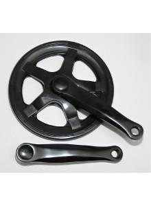 Kľuky 1-prevodník 140mm x 40z Fe čierny štvorhran