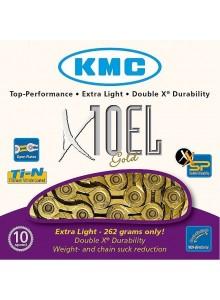 Reťaz KMC X-10 EL Gold Light 114 článkov