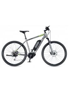 "Edict 2019 16"" strieborná-matná/zelená Author cross E-bike"