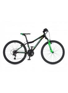 """A-Matrix 24 2020 12,5"""" čierna-matná/zelená-neón/žltá-neón Author detský 24"""" bicykel"""