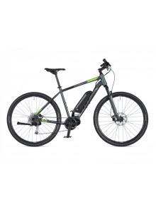 """Crossový elektrobicykel Author Edict 2020 16"""" sivá-matná/zelená"""