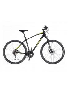 """Crossový bicykel Author Synergy 2021 18"""" čierna/limeta/zelená/čierna"""