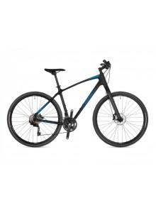 "Crossový bicykel Author Avion 2021 18"" čierna-matná/modrá"