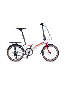 Skladací bicykel Author Simplex 2021 M biela/červená
