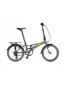 Skladací bicykel Author Simplex 2021 M strieborná-matná/limetka