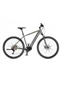 "Empire 2021 18"" strieborná-matná/zelená Author cross E-bicykel"